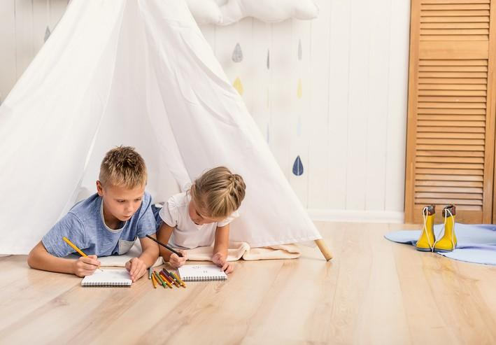 From Finger-painting to Spills, Vinyl Plank Flooring Has Your Family Room Covered